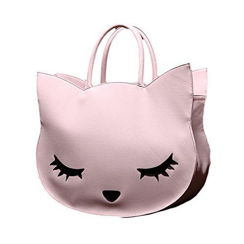 Tote Bag - Pink Cat - 4