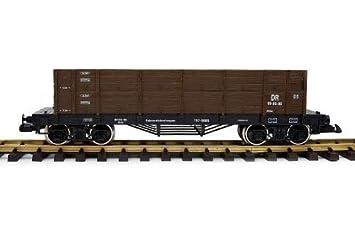 Zenner Vagón Borde Alto Escala G, (G Escala) marrón, Ruedas de Acero Inoxidable, Escala G Tren de Jardín: Amazon.es: Juguetes y juegos