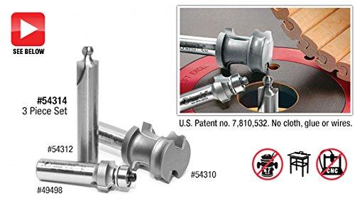 Amana Tool 54314 3-Piece Carbide Tipped Tambour Door/Appliance
