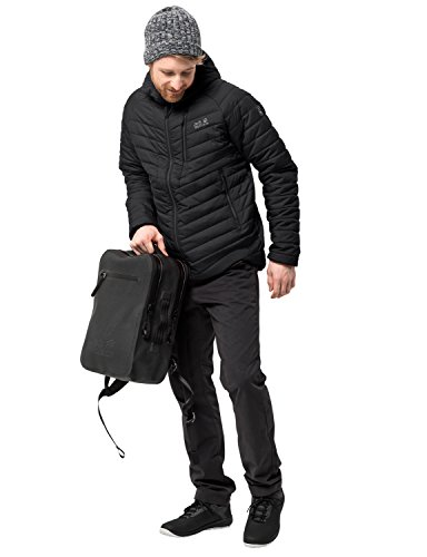 Jack Wolfskin Men's Aero Trail Windproof Insulated Puffer Jacket, Black, Large from Jack Wolfskin