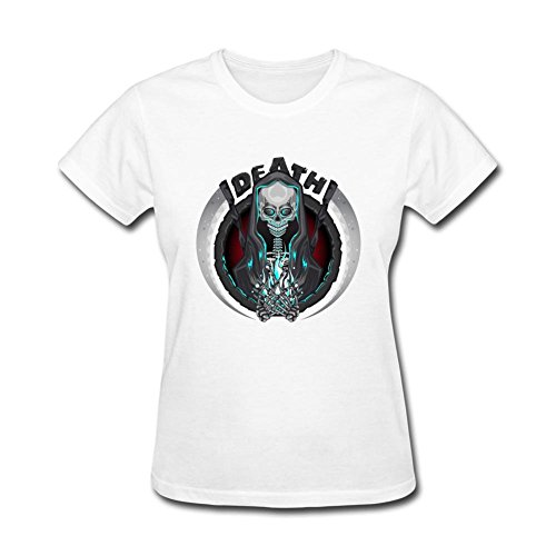 [Nicesne Death Skeleton Grim Reaper With Scythe Emblem Logo T Shirt For Women] (Scythe Halloween)