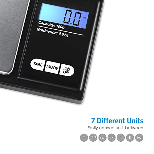 AMIR-Digital-Mini-Scale-100g-001g-0001oz-Pocket-Jewelry-Scale-Electronic-Smart-Scale-with-7-Units-LCD-Backlit-Display-Tare-Function-Auto-Off-Stainless-Steel-Slim-Design-Battery-Included