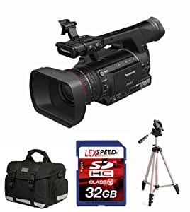 Panasonic AG-HPX250 AGHPX250 P2 HD Hand-Held Camcorder + 32GB DSHC Card (10) + Tripod + Deluxe Accessory Pack