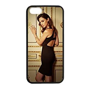 FUNKYCAT Gal Gadot Personalised Classic Otterbox Soft TPU Bumper with Hard Shell Custom Case for iPhone 5,5S TPU (Laser Technology)