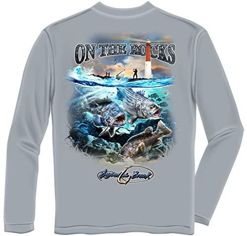 Fishing Videos | Striped Bass Sea Bass Black Fish Long Sleeve BTB2373LSXXL ()