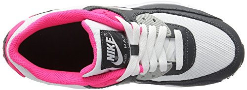 Nike Air Max 90 Mesh (GS), Zapatillas de Deporte Para Niñas Negro (Negro (Anthracite / White-Hyper Pink))