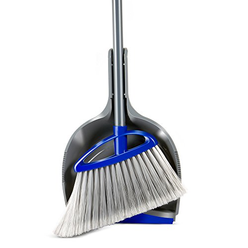 Masthome Corner Power Angle Broom for Indoor&Outdoor Household Cleaning Dustpan Set