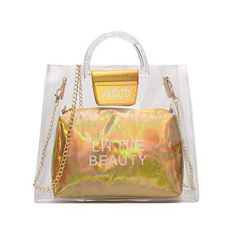 - Women's Makeup Bag Miuye Clear Jelly Letter Cross Body Bag Fashion Hobo Bags Shoulder Handbags Cell Phone Purse Gold