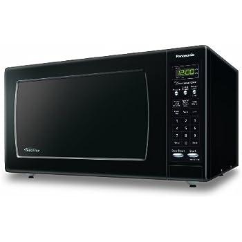 Panasonic NN-SN733BAZ Black 1.6 Cu. Ft. Countertop Microwave Oven with Inverter Technology