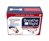 Breathe Right Extra Strength Nasal Strips, 72