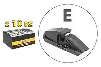 Carall S985 - Juego de 10 conectores adaptadores modelo E para escobillas de limpiaparabrisas: Amazon.es: Coche y moto