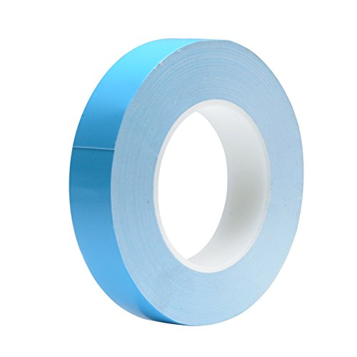 Thermal Adhesive Tape (20mmx25 Meters 0.3mm thickness) Nicelux Double Side Adhesive Thermal Conductive Tape for Heat Sink of LED Light, PC and More, Electrically Insulated,1 Reel Pack by Nicelux