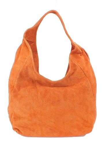 Eastline - Bolso al hombro de cuero para hombre Naranja - Orange  - Orange