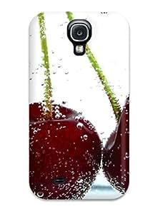 Galaxy S4 Two Dark Cherry Print High Quality Tpu Gel Frame Case Cover