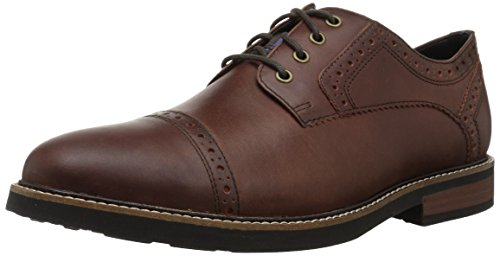 Nunn Bush Men Overland Cap Toe Oxford Lace Up with KORE Technology, Rust, - Oxford Lace Cap Up