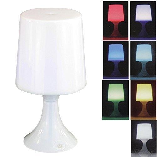LED Tischlampe mit 7 fach Farbwechsel Tischleuchte Nachttischlampe Lampe