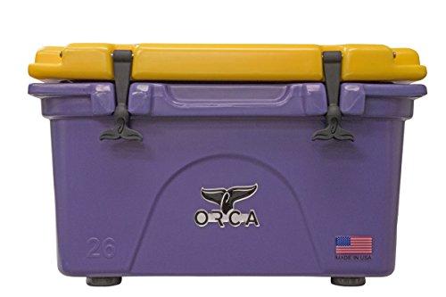 ORCA 26 quart Collegiate Cooler, Purple/Gold