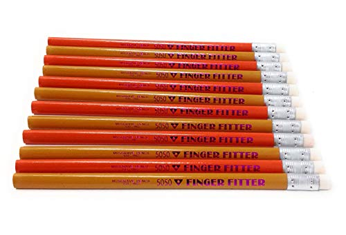 Jumbo Pencil, Triangle Finger Fitter, 10 Mm Lead, Med Soft Core, Color: Yellow and Orange, Pkg. Of 12 Pencils -