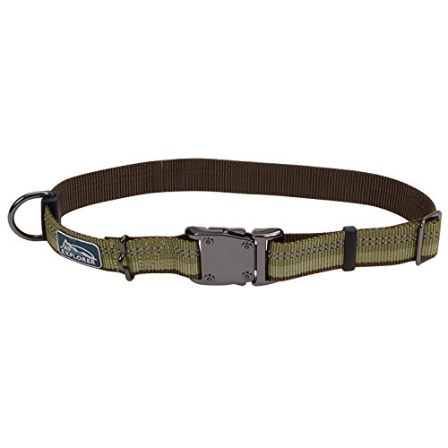 Coastal Pet Products, Inc. 36922 18 Inch x 1 Inch K-9 Explorer Adjustable Collar - Fern Green - Separates Basic Pant