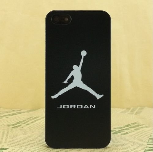 NEW AIR JORDAN BLACK LOGO JUMP SOFT PC CASE FOR APPLE IPHONE 5/5S J8
