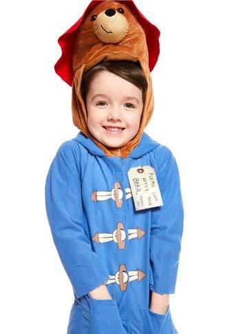 Boys Girls Child's Paddington Bear Movie Book Day Fancy Dress Costume Outfit (8-10) ()