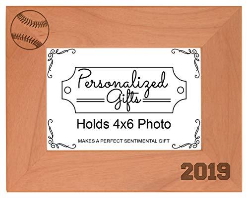 Baseball Gifts 2019 Frame Baseball Picture Frame Sports Photo Frame Wood Engraved 5x7 Landscape Picture Frame