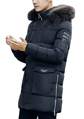 M amp;S Parka Padded Coats Winter amp;W Black Down Collar Puffer Fur Men's qOFg7nq