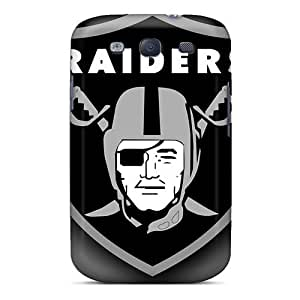 Slim Fit Tpu Protector Shock Absorbent Bumper Oakland Raiders Case For Galaxy S3
