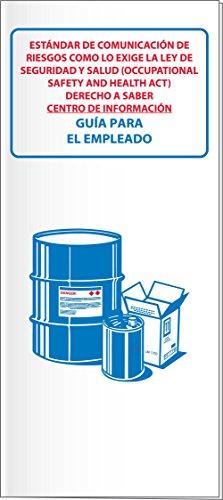 National Marker RTK32SP Hazcom/Ghs/Rtk Booklets/Manuals with Card Insert, Spanish (Pack of 10)