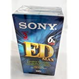 Sony T-120EDE ED MAX VHS Videocassette 3 Pak