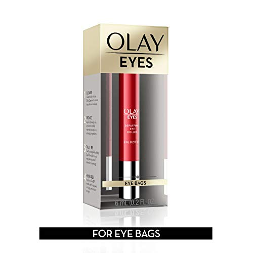 41Vp25YqiTL - Eye Treatment by Olay Eyes Depuffing Eye Roller with Vitamin E Massages to Help Reduce Puffiness and Instantly Awaken Tired-Looking Eyes, 0.2 Fl Oz Packaging may Vary