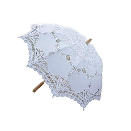 31d773376a0a TOOGOO Parasole da sposa con ombrello da sposa in pizzo vittoriano da 80  cm