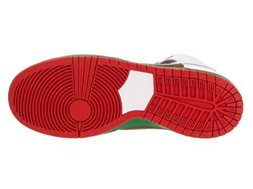 Dunk Alto Premium Sb blanco / negro del patín del zapato 6 con nosotros pecan/white