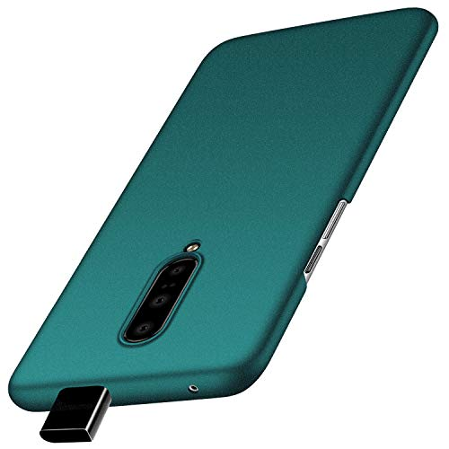 OnePlus 7 Pro Mobile Phone Case, Tianyd [Color Series] [Ultra-Thin] [Anti-Fall] Simple PC Material Ultra-Thin Protective Cover for OnePlus 7 pro (Gravel Green) (Oneplus Mobile Case)