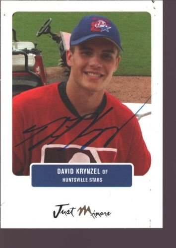 DAVID KRYNZEL 2004 JUST MINORS ROOKIE ON CARD AUTOGRAPH AUTO RC A'S $12