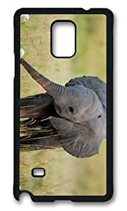MOKSHOP Adorable Baby Elephant Hard Case Protective Shell Cell Phone Cover For Samsung Galaxy Note 4 - PCB