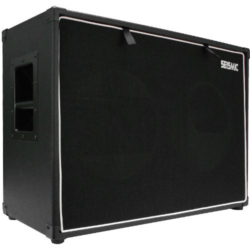"Seismic Audio - 2x12 GUITAR SPEAKER CAB EMPTY - 7 Ply Birch - 12"" Speakerless Cabinet - 212 - Black Tolex - Black Cloth Grill - Front or Rear Loading Options"