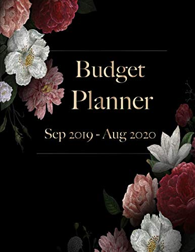 Budget Planner: Daily Weekly & Monthly Calendar Expense Tracker Organizer For Budget Planner And Financial Planner Workbook ( Bill ... Book Monthly Bill Organizer Sep 2019- Aug 2020 Floral black)