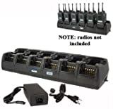 Power Products TWC12M + 6 TWP-MT16-D 12 Unit Gang Charger for Motorola XPR6100 XPR6300 XPR6350 XPR6500 XPR6550 XPR6580 and more
