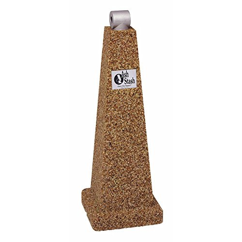 Aggregate Cigarette Receptacle 12'' Sq x 35'' H Golden Glo - HUB-25712 by Miller Supply Inc