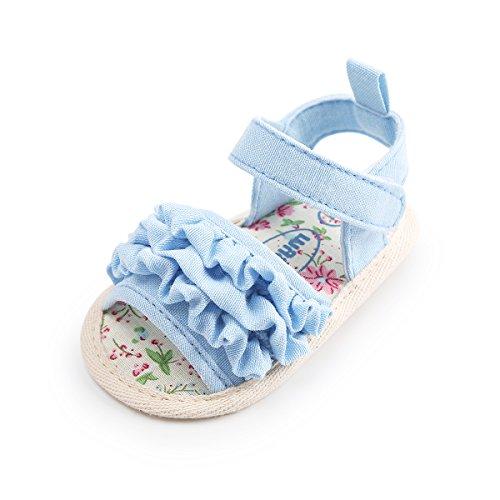 Soles Classic Sandal Soft (Baby Girl Sandals - Soft Sole Infant Girl Summer Crib Shoes Princess Dress Flats)