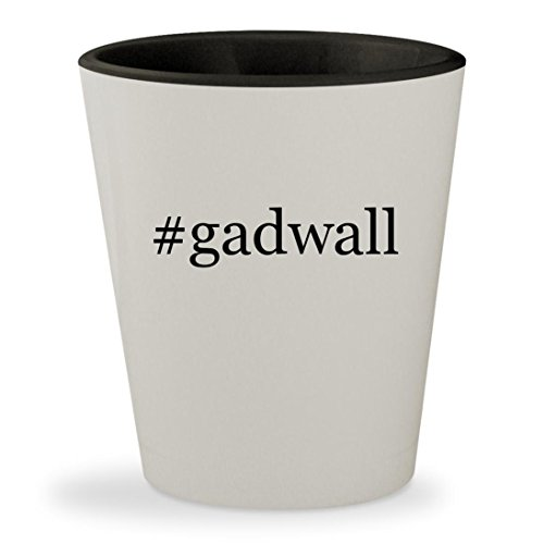Price comparison product image #gadwall - Hashtag White Outer & Black Inner Ceramic 1.5oz Shot Glass
