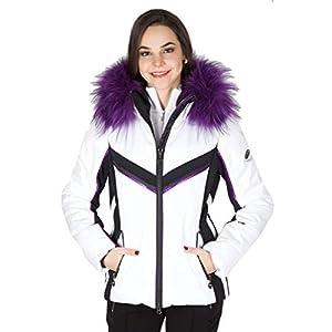 Sportalm 902178147 Dope Veste de Ski avec Capuche et Fourrure Optique Blanc 01