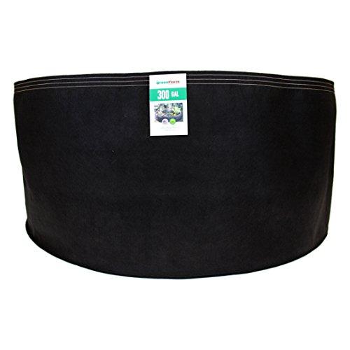 Wtb (20 Pack) 300 Gallon Black Grassroots Fabric Pot - Gr...