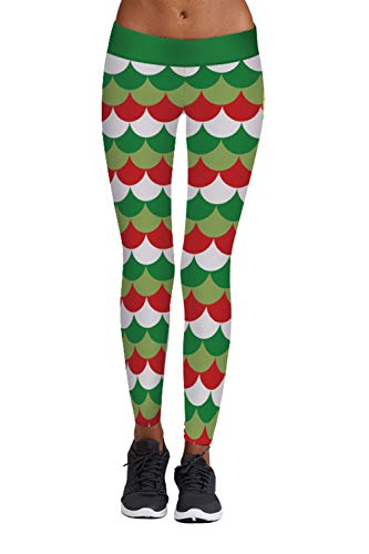3e3fea6fc21ea3 Linsery Women's Santa Claus Christmas Holiday Ugly Tights Leggings. Tap to  expand
