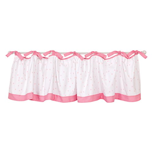 Trend Lab Swans Window Valance/Curtain/Covering, White/Pink