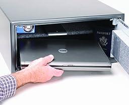 First Alert 2062F Digital Anti-Theft Laptop Safe, 1.04 Cubic Feet, Gray/Silver