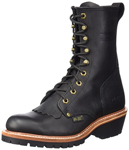 "AdTec Men's 1964 10"" Fireman Logger Black Work Boot, 10.5 M US"