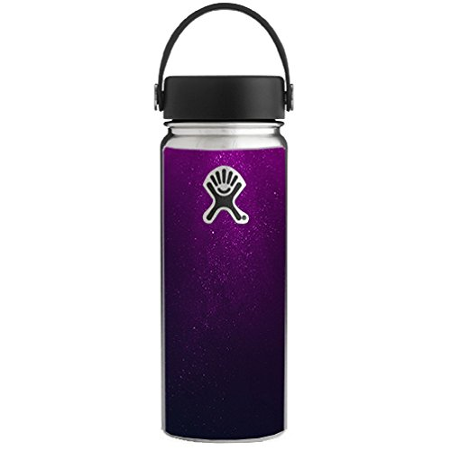 (Skin Decal Vinyl Wrap for Hydro Flask 18 oz Wide Mouth / Purple dust )