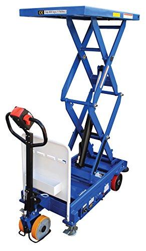 Vestil-CART-1000D-DC-CTD-Steel-Double-Scissor-Cart-Hydraulic-24V-1000-lb-Capacity-40-x-24-Platform-Height-Range-20-12-to-72-1316-Blue